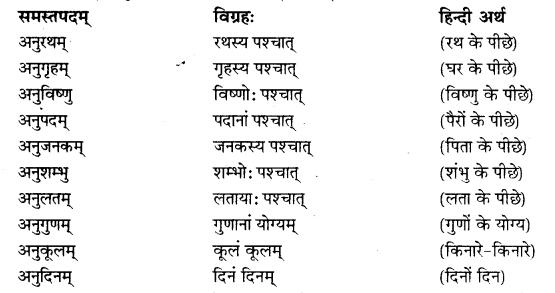 RBSE Class 10 Sanskrit व्याकरणम् समासः image 3