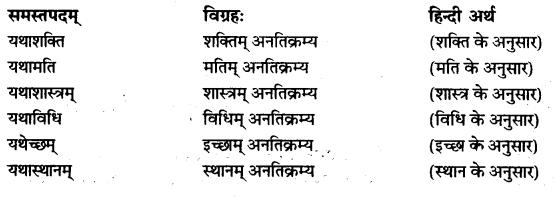 RBSE Class 10 Sanskrit व्याकरणम् समासः image 6