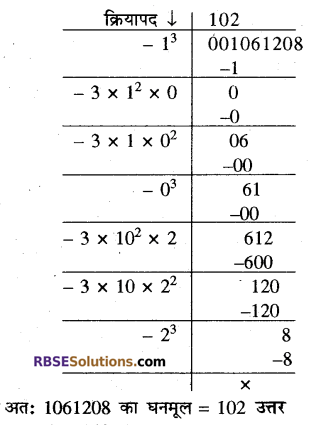 RBSE Solutions for Class 10 Maths Chapter 1 वैदिक गणित Ex 1.3 14
