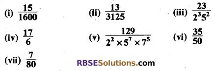 RBSE Solutions for Class 10 Maths Chapter 2 वास्तविक संख्याएँ Ex 2.4 1
