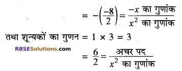 RBSE Solutions for Class 10 Maths Chapter 3 बहुपद Additional Questions 2
