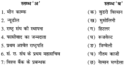 RBSE Solutions for Class 11 History Chapter 6 1919-1945 के मध्य का विश्व