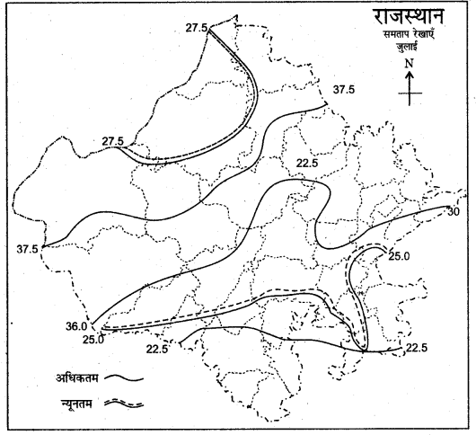 RBSE Solutions for Class 11 Indian Geography Chapter 13 राजस्थान जलवायु, वनस्पति व मृदा 5