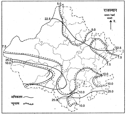 RBSE Solutions for Class 11 Indian Geography Chapter 13 राजस्थान जलवायु, वनस्पति व मृदा 6