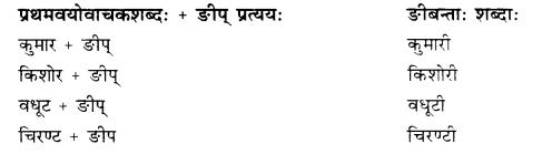 Rajasthan Board RBSE Class 10 Sanskrit व्याकरणम् प्रत्ययः image 22