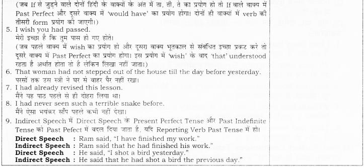 RBSE Class 10 English Grammar Past Tense image 4
