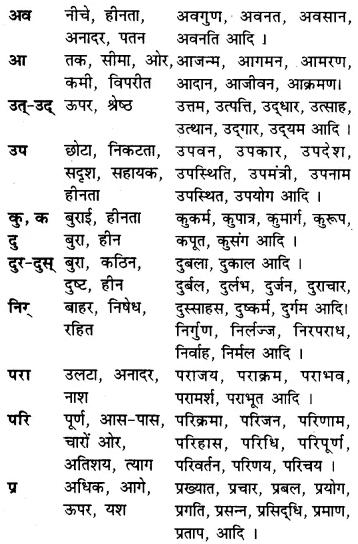 RBSE Class 7 Hindi व्याकरण उपसर्ग 2