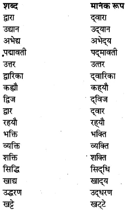 RBSE Class 7 Hindi व्याकरण मानक हिंदी का स्वरूप 3