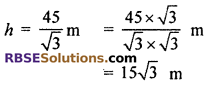 RBSE Solutions for Class 10 Maths Chapter 8 Height and Distance Miscellaneous Exercise 13