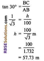 RBSE Solutions for Class 10 Maths Chapter 8 Height and Distance Miscellaneous Exercise 18