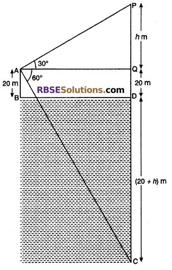 RBSE Solutions for Class 10 Maths Chapter 8 Height and Distance Miscellaneous Exercise 30