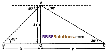 RBSE Solutions for Class 10 Maths Chapter 8 Height and Distance Miscellaneous Exercise 31