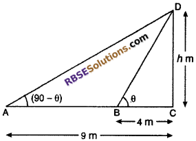 RBSE Solutions for Class 10 Maths Chapter 8 Height and Distance Miscellaneous Exercise 35