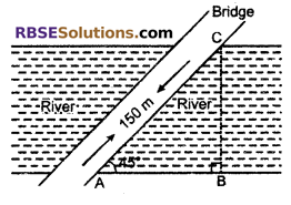 RBSE Solutions for Class 10 Maths Chapter 8 Height and Distance Miscellaneous Exercise 5
