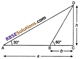RBSE Solutions for Class 10 Maths Chapter 8 Height and Distance Miscellaneous Exercise 8