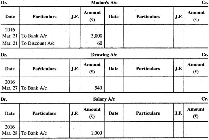 RBSE Solutions for Class 11 Accountancy Chapter 8 रोकड़ बही एवं बैंक सम्बन्धी व्यवहार image - 53