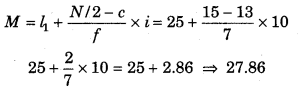 RBSE Solutions for Class 11 Economics Chapter 9 माध्यिका 97