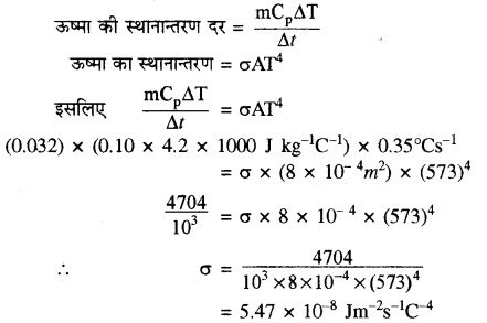 RBSE Solutions for Class 11 Physics Chapter 12 ऊष्मीय गुण 22