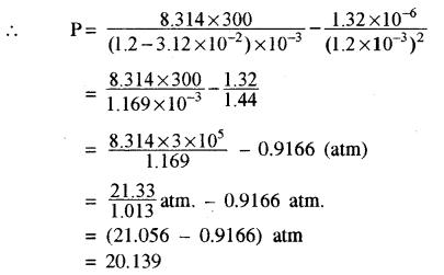 RBSE Solutions for Class 11 Physics Chapter 14 गैसों का अगुणित सिद्धान्त 36