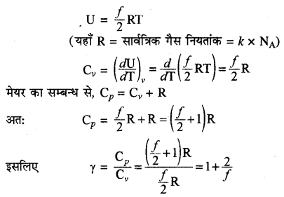 RBSE Solutions for Class 11 Physics Chapter 14 गैसों का अगुणित सिद्धान्त 9