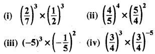 RBSE Solutions for Class 8 Maths Chapter 3 घात एवं घातांक Ex 3.1 Q1