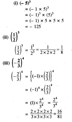 RBSE Solutions for Class 8 Maths Chapter 3 घात एवं घातांक Ex 3.1 Q2a