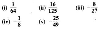 RBSE Solutions for Class 8 Maths Chapter 3 घात एवं घातांक Ex 3.1 Q3