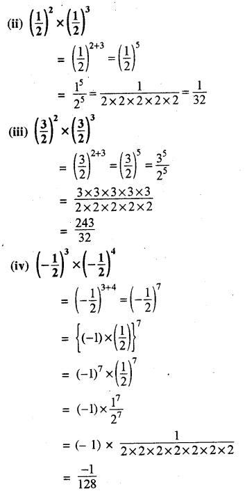 RBSE Solutions for Class 8 Maths Chapter 3 घात एवं घातांक Ex 3.1 Q4b
