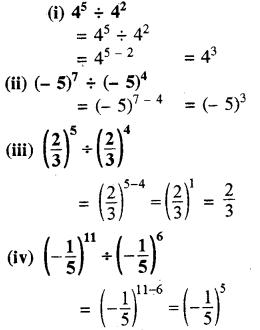 RBSE Solutions for Class 8 Maths Chapter 3 घात एवं घातांक Ex 3.1 Q5a