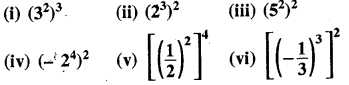 RBSE Solutions for Class 8 Maths Chapter 3 घात एवं घातांक Ex 3.1 Q6