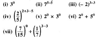 RBSE Solutions for Class 8 Maths Chapter 3 घात एवं घातांक Ex 3.1 Q7