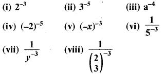 RBSE Solutions for Class 8 Maths Chapter 3 घात एवं घातांक Ex 3.1 Q8