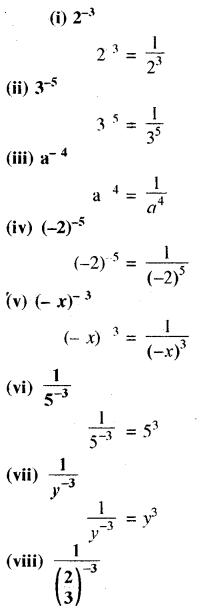 RBSE Solutions for Class 8 Maths Chapter 3 घात एवं घातांक Ex 3.1 Q8a