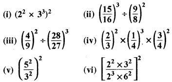 RBSE Solutions for Class 8 Maths Chapter 3 घात एवं घातांक Ex 3.1 Q9