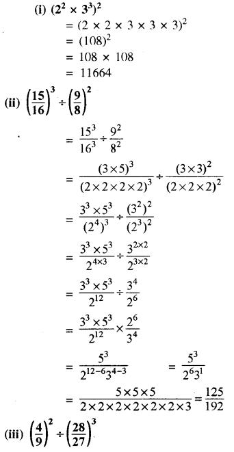 RBSE Solutions for Class 8 Maths Chapter 3 घात एवं घातांक Ex 3.1 Q9a