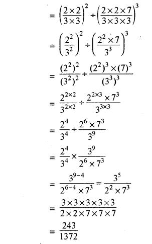 RBSE Solutions for Class 8 Maths Chapter 3 घात एवं घातांक Ex 3.1 Q9b