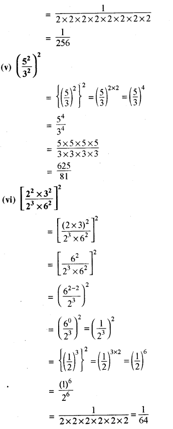 RBSE Solutions for Class 8 Maths Chapter 3 घात एवं घातांक Ex 3.1 Q9d
