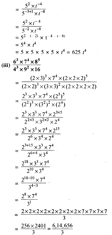 RBSE Solutions for Class 8 Maths Chapter 3 घात एवं घातांक Ex 3.2 Q2b