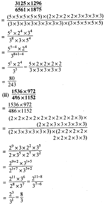 RBSE Solutions for Class 8 Maths Chapter 3 घात एवं घातांक Ex 3.2 Q4a