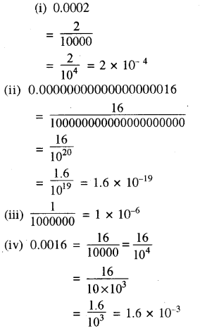 RBSE Solutions for Class 8 Maths Chapter 3 घात एवं घातांक Ex 3.3 Q3
