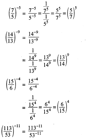 RBSE Solutions for Class 8 Maths Chapter 3 घात एवं घातांक In Text Exercise p34a