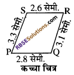 RBSE Solutions for Class 8 Maths Chapter 7 चतुर्भुज की रचना Ex 7.3 - 3