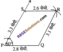 RBSE Solutions for Class 8 Maths Chapter 7 चतुर्भुज की रचना Ex 7.3 - 4