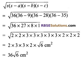 RBSE Solutions for Class 9 Maths Chapter 11 Area of Plane Figures Additional Questions - 18