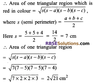 RBSE Solutions for Class 9 Maths Chapter 11 Area of Plane Figures Additional Questions - 22
