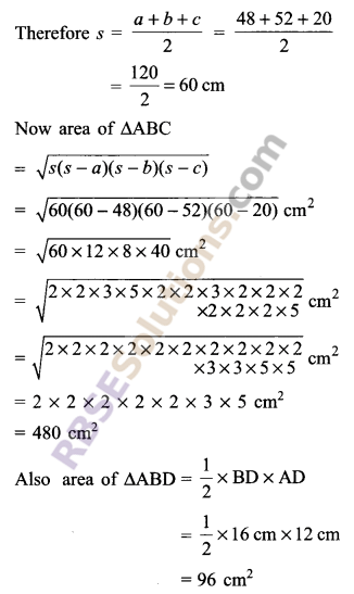RBSE Solutions for Class 9 Maths Chapter 11 Area of Plane Figures Additional Questions - 24