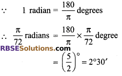 RBSE Solutions for Class 9 Maths Chapter 13 Angles and their Measurement Additional Questions - 4