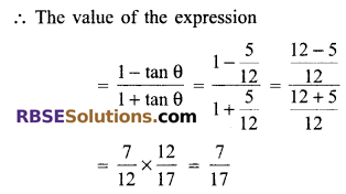 RBSE Solutions for Class 9 Maths Chapter 14 Trigonometric Ratios of Acute Angles Additional Questions - 17