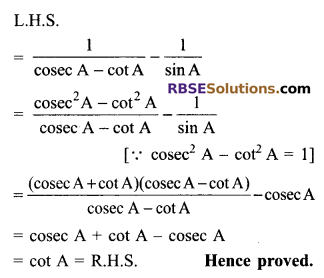 RBSE Solutions for Class 9 Maths Chapter 14 Trigonometric Ratios of Acute Angles Additional Questions - 26