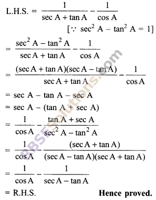 RBSE Solutions for Class 9 Maths Chapter 14 Trigonometric Ratios of Acute Angles Additional Questions - 33